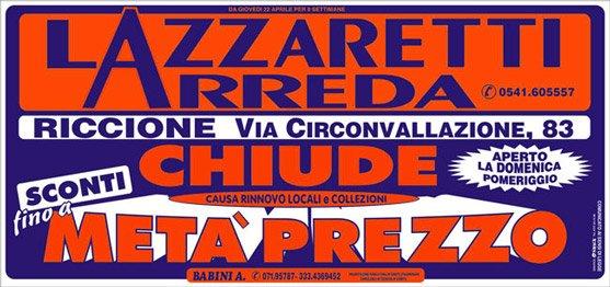 Lazzaretti Arreda - Svendita per rinnovo locali - Riccione